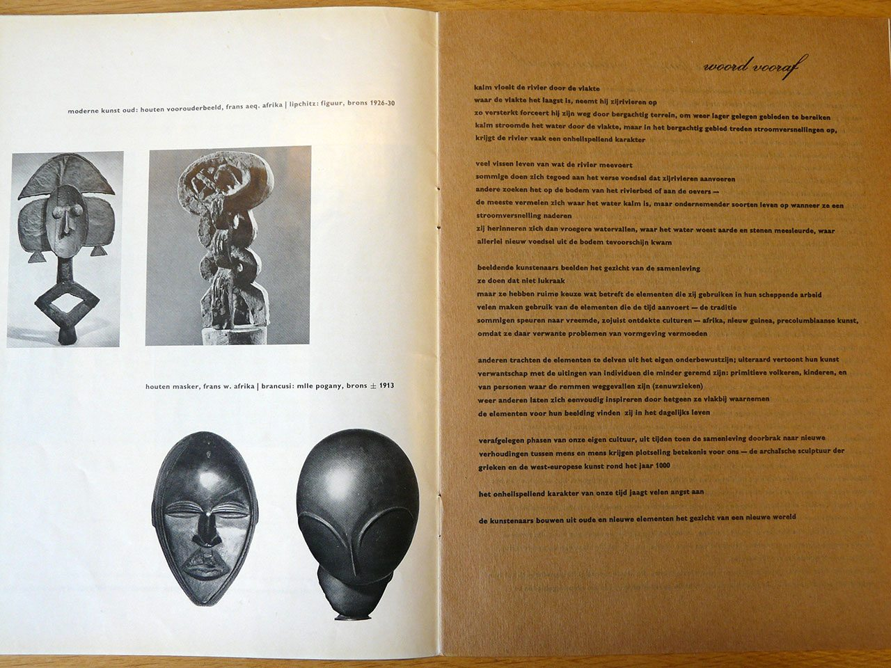Fig 2. Page of catalogue designed by Sandberg including his preface.
