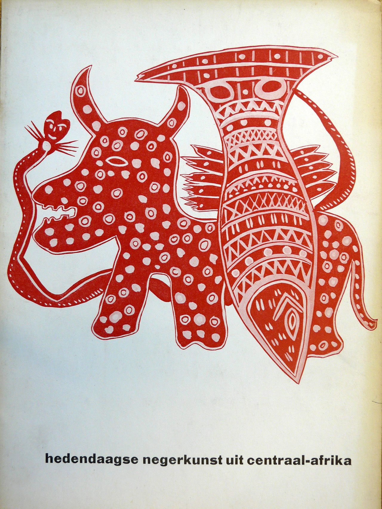 Fig 3. Cover of catalogue hedendaagse negerkunst uit Centraal-Afrika 1957.