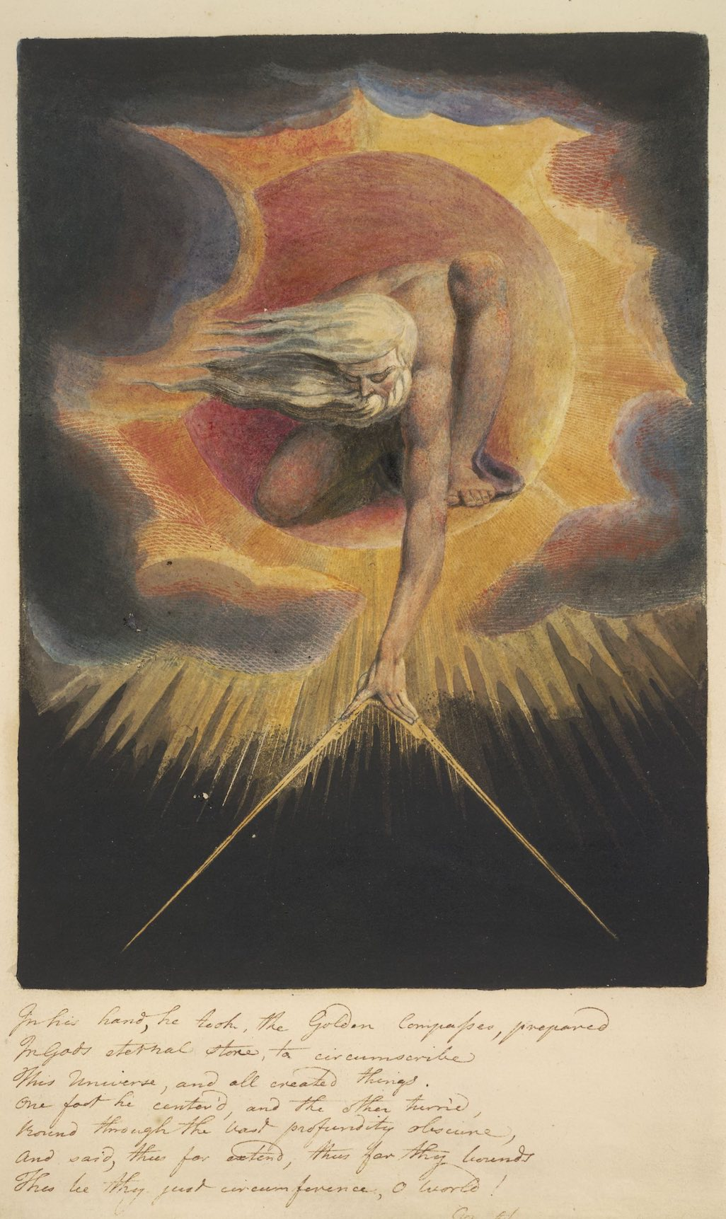 Figure 1. William Blake, The Ancient of Days, frontispiece to Europe: A Prophecy, 1794.
