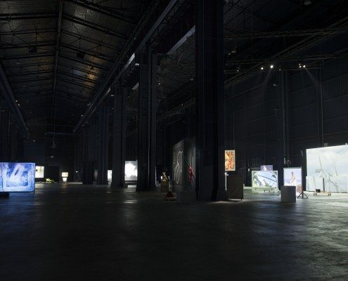 Figure 1: Joan Jonas: Light Time Tales, installation view, HangarBicocca, Milan, Italy, 2014.