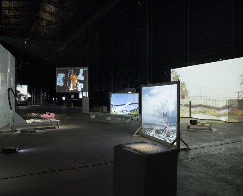 Figure 2: The Shape, The Scent, The Feel of Things (2004/2005), installation view, HangarBicocca, Milan, 2014.