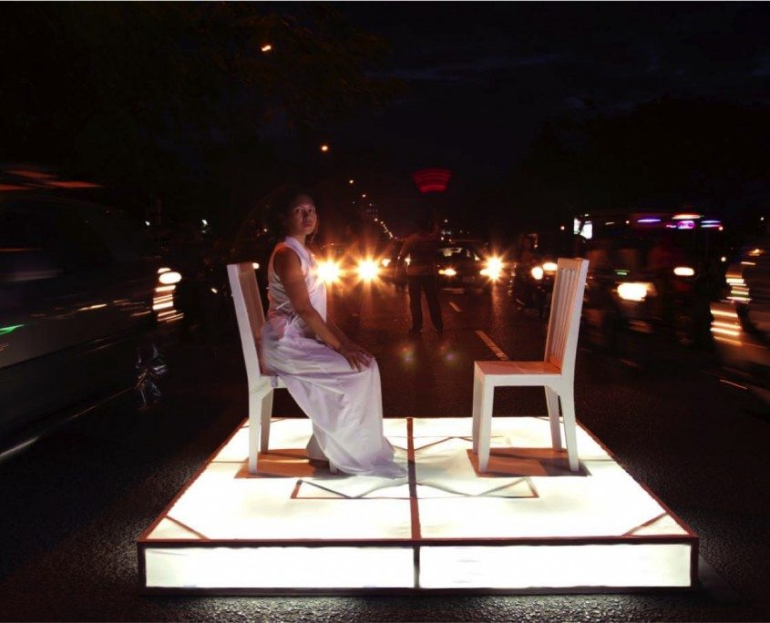 Fig 4. Anida Yoeu Ali, The Public Square – Street Encounter, 2012.