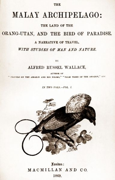 Fig. 05. Frontispiece of the first edition of A.R. Wallace, The Malay Archipelago, 1869.