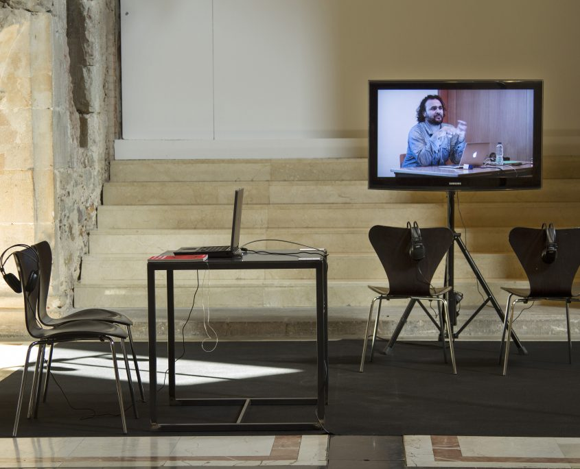 Fig. 2. Kader Attia, installation view of From Material to Abstract, part of Transfigurations, 20-26 June 2014, Museu d'Art Contemporani de Barcelona ©Oriol Molas.