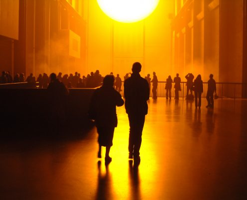Olafur Eliasson The Weather Project, 2003. Installation in Turbine Hall, Tate Modern, London.