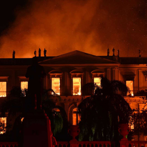 Fig. 3. The fire at the Museu Nacional, September 2, 2018. Image credit: Fabio Teixeira/Picture Alliance Via Getty Images.