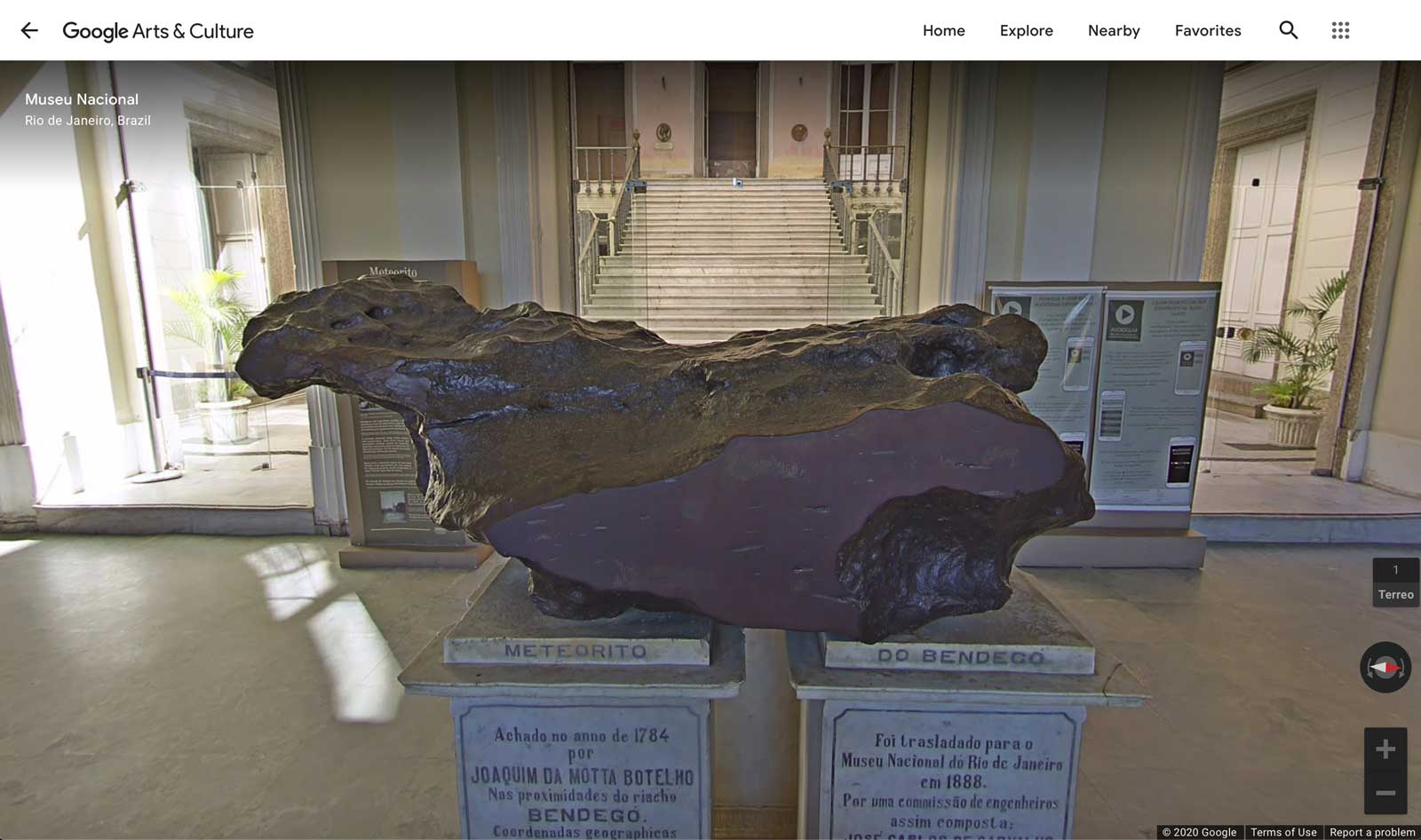 Fig. 4b. Bendegó as seen on Google Arts and Culture. Image credit: Google Arts and Culture.
