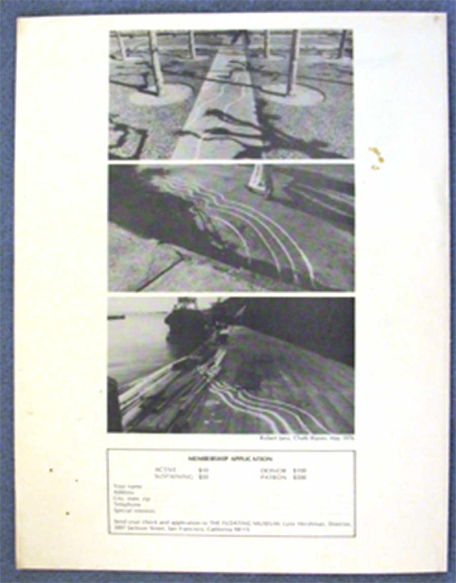 Fig. 1. Robert Janz, Chalk Waves, 1976, The Floating Museum. Courtesy of Lynn Hershman Leeson.