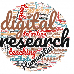 Fig. 1. Word cloud based on the working definitions of digital humanities provided by participants of the Research Libraries UK project 'The role of Research Libraries in the creation, archiving, curation, and preservation of tools for the Digital Humanities'.