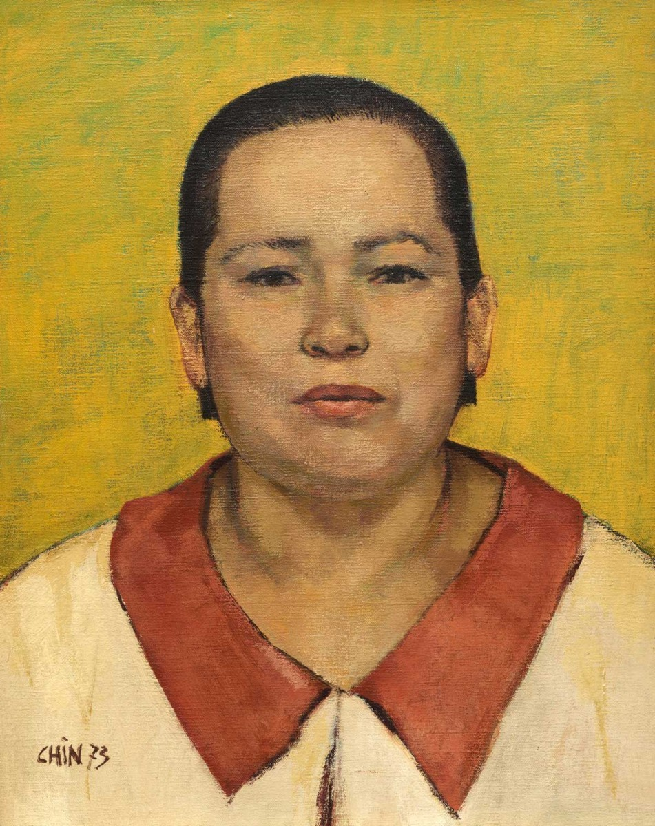 Jules Chin A Foeng, Portrait of the Artist's Grandmother, 1973, oil on canvas, 50 x 40 cm, on loan from Patrick Chin A Foeng, Leiderdorp. Photo: Gert Jan van Rooij