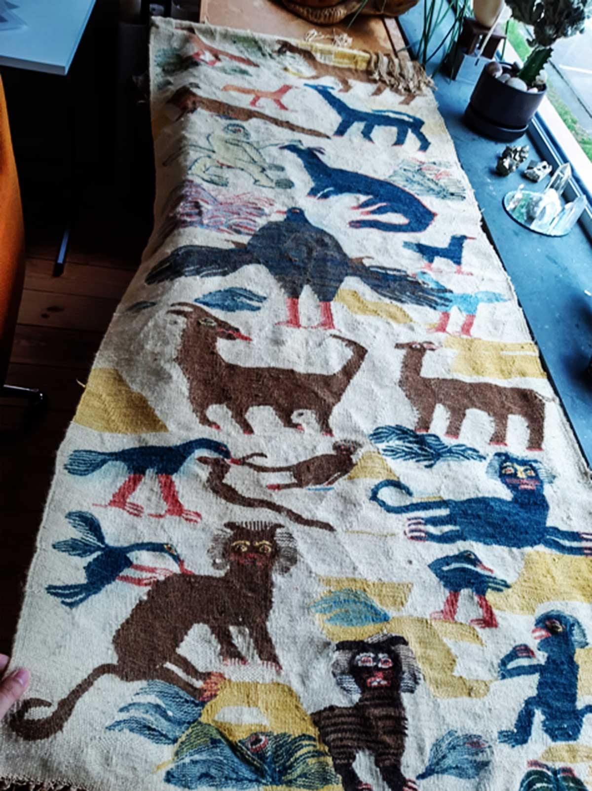 The rug in the house of the donor, photo made by Amanda Pinatih on 7 July 2020.