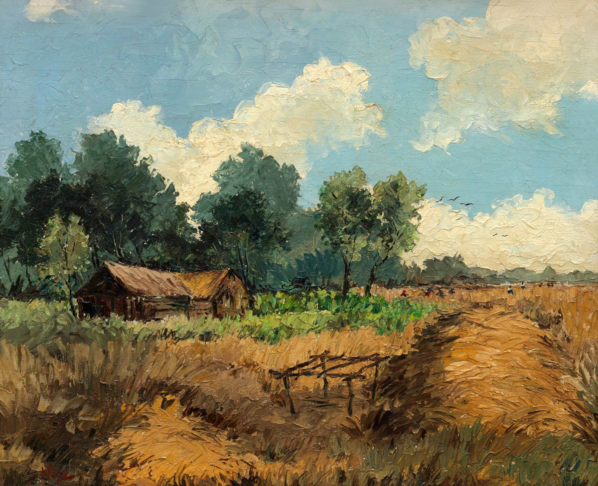 Wim Bos Verschuur, Rice, Wittie Boitie, The Good Expectation, date unknown, oil on canvas, 55 x 67 cm (incl. frame), on loan from Kenneth E. Beeker (b'ker), Amsterdam